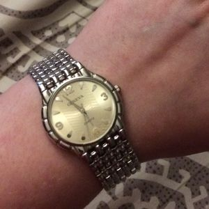 Geneva Quartz Silver Men's Watch